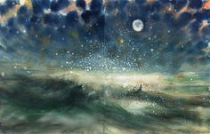Bill Jacklin RA | STARS AND SEA AT NIGHT | Summer Exhibition Explorer