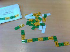 """""""sommenrups"""" domino van sommetjes (voorbeeld = optellen tot 10, maar template is eenvoudig aan te passen naar alle mogelijke sommen)"""