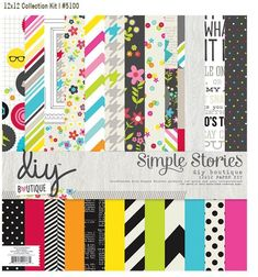 "Check out the TOTALLY AWESOME new collection from Simple Stories called ""DIY- Design It Yourself"" #simplestories #DIY Design It Yourself #DIYDesignItYourself - love these cheery papers!!!"