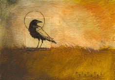 Glorious Autumnal Raven.....Harvest Solstice....LOVE!! by Seth Fitts