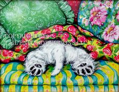"""West Highland White Terrier """"Time Out"""" Print - Westie Country French Dog Art  <3<3<3I ADORE/LOVE/TREASURE WESTIES & HAD 2 (NOW 1) A BEAUTIFUL  PAINTING<3<3<3 *I'VE SEEN THIS SCENE A 1000 TIMES AT HOME :) @"""