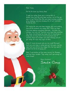 Watch your little one's eyes light up brighter than Rudolph's nose!! Create a printable personalized Letter from Santa!! Choose from 16 Magical Designs and 13 personalized messages! Both Free and $3.99 Magical Packages!    www.easyfreesantaletter.com