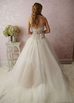 Beaded bodice with full tulle ballgown skirt by Victoria Nicole. this is my dream wedding dress. <3