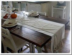 Rustic table top from The Shabby Creek Cottage