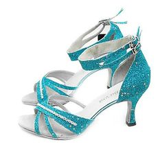 Sparkling Glitter Upper High Heel Ballroom Practice Dance Shoes for Women comfy dance shoes Dance Fashion, Fashion Shoes, Ballroom Dance Shoes, Dancing Shoes, Dance Gear, Latin Shoes, Salsa Shoes, Tango Shoes, Glitter Heels