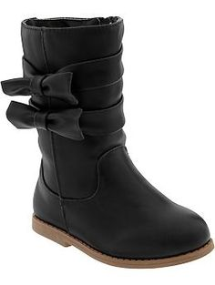 Faux-Leather Bow-Tie Boots for Baby (Old Navy 12m-5T)