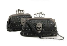 Skull Knuckle Duster Clutch Purse Sugar by lovesweetobsessions
