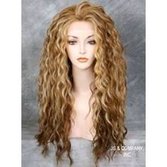 Sweet Long Wavy Synthetic Hair Lace Front Cap Wig 24 Inches for Female Natural Black Size:Average