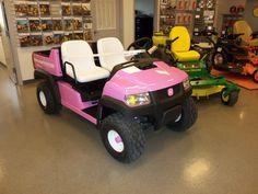 Pink John Deere Gator.