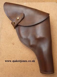 """Custom made Raiders holster - handmade to order in the UK from makeitjones.   These are made to fit the 4"""" barrel S&W M1917 .45 revolver like a glove. Made using my own custom templates based on the screen seen Raiders holster. Pistol Holster, Revolver, Indiana Jones, Raiders, Glove, Barrel, How To Draw Hands, Cosplay, Templates"""
