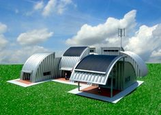 This Homestead House a conceptual design for alternative housing that explores the potential use of a commercially available steel, prefabricated, modular, high strength, low cost, arch building system normally used for agricultural purposes, and is designed to function off of the standard utility grid.