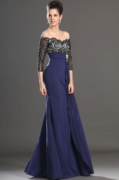 Chiffon Spring Glamorous & Dramatic 3/4 Length Sleeves Off The Shoulder Summer Mother Of The Bride Dress
