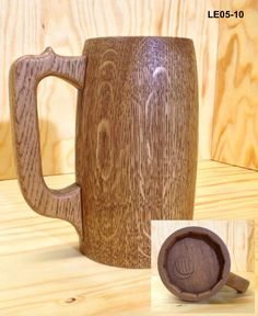dřevěný skládaný korbel - použitím olejového vosku nenasákavý