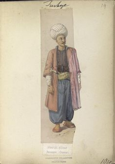 Janissary craftsman. The Vinkhuijzen collection of military uniforms / Turkey, 1818. See McLean's Turkish Army of 1810-1817.