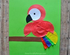 I HEART CRAFTY THINGS: Cupcake Liner Parrot Kids Craft