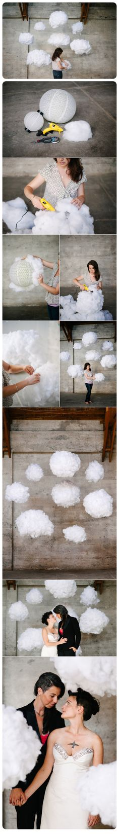 DIY Cloud Backdrop...Cool Tutorials On How to Make a Cloud at Home. Its So Cool. #diycloudlights #howtomakeacloud #diyclouddecorations