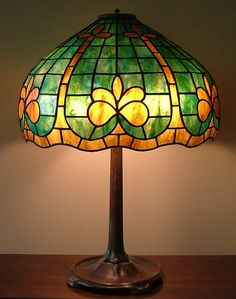 stained glass geometric glass lamp fleur de lis shade green table lamp office lamp hollywood regency lamp french provincial art deco shade mozeypictures Images