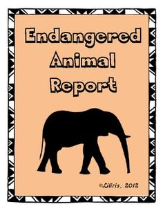 All you need to research and write an endangered animal report.  Common Core - Nonfiction Writing