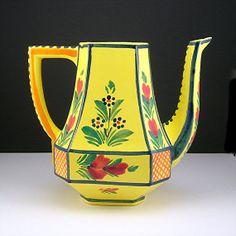 Quimper France Yellow Teapot No Lid Vintage by AtticDustAntiques, $24.00
