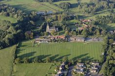 St Peter and St Paul church in East Harling - Norfolk aerial image   by John D F