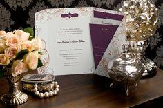 Wall of Love - Foldover Pocket Wedding Invitation by MagnetStreet