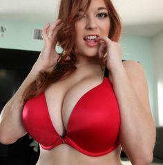 Tessa Fowler - red smooth bra