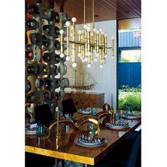 Jonathan Adler Meurice Rectangle Chandelier in All Lighting