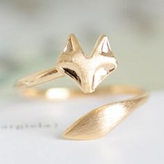 As Seen on the Today Show! Delicate Fox Animal Ring   The Alchemy Shop, LLC