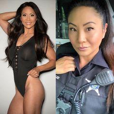 Don't Judge a Girl By Her Uniform, She May Just Surprise You! Sexy Bikini, Bikini Swimwear, Female Soldier, Army Soldier, Military Girl, Military Women, Girls Uniforms, Badass Women, Beautiful Asian Women