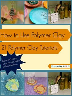 Take your jewelry and your home decor to a whole new level with these 21 Polymer Clay Tutorials.  From simple beads to amazing home decor pieces, these Polymer clay ideas are sure to help you look at clay crafting in a whole new light.