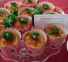 Mini rijstmuffins met cashewnoten, kruidenkaas en tijm.  https://www.facebook.com/notes/asuns-delicious-cooking/mini-rijstmuffins-met-cashewnoten-en-tijm/702377143226202