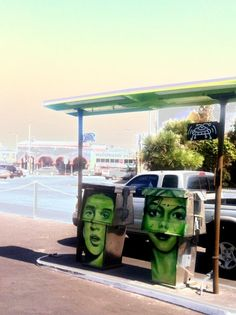 Gas Station re-up.  the best formerly free parking corner in Venice Beach.
