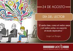 24 de Agosto. Día del lector. #Bibliotecas #DíadelLector