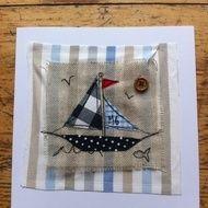 Sailing textile card