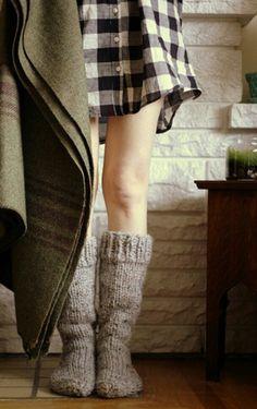 Thick woolen socks, so comfy!