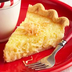 Old-Fashioned Buttermilk-Coconut Pie~ This classic pie recipe comes from Miss Aimee B's Tea Room in St. Charles, Missouri.