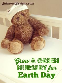 Easy tips to create an eco-chic nursery for almost no money. #greennursery