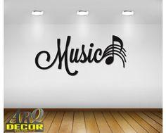 Music - Napis 3d, Dekoracje Muzyczne (NA ZAMÓWIENIE) NR 11 - ARQ - DECOR | Pracowania Dekoracji ARQ DECOR