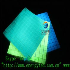 Glow In The Dark Gl Mosaic Tile Turquoise Glowing And Long Duration Acid