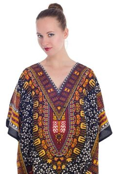 82830cd75d472 Women's Plus Size Bohemian Floral Printed V-Neck Ethnic Style Loose Casual  Tunic Dress