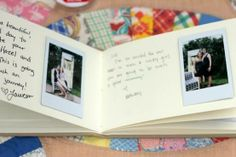Livre d'or + pola+ masking tape pr fixer les photos