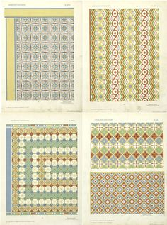 Approx. 250 19/20th C French ceiling patterns.
