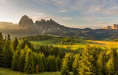 Mountain View by Hans Kruse, via 500px - The Dolomites are beautiful in themselves, but in the morning light they are enchanting.