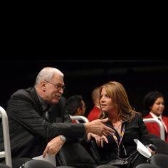 My Idol--Former NBA Coach Phil Jackson with his partner Jeanie Buss.