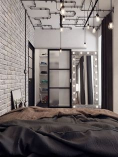 Ontdek hoe u: Ontvang Tips toe Te Passen Industriële Slaapkamer Interieur Industrial Bedroom Design, Industrial Interiors, Industrial House, Industrial Style, White Industrial, Urban Industrial, Design Typography, Bedroom Styles, Bedroom Ideas
