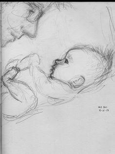 """""""My Boy"""" 365 drawing blog, Curtis Wiklund"""