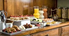 Enjoy an expanded continental breakfast at the Clarendon Square Inn