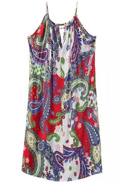 Halter Paisley Print Shift Dress 17.67