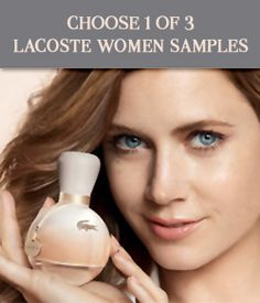 Re-pin and click here to try 1 of 3 Free Lacoste Fragrance Sample for Women! http://womanfreebies.com/general-freebies/lacoste-cologne-sample/?amyadams