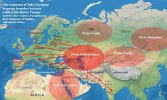 After the Ice - Maps of Early European Migrations - After the Indo-European glacial migration - Ancient Egyptian Art, Ancient History, Ancient Aliens, Ancient Greece, La Migration, European Languages, European History, American History, Pre History